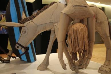 "Detail of Terry Summers sculpture of ""The Good Samaritan"""